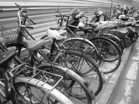 Bicicleta: um dos quatro principais bens para garantir o casamento na década de 1970. (foto Liliane Carvalho)