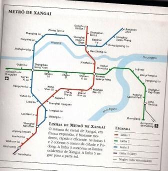 Metro de Shanghai em 2007.