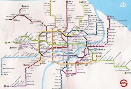 Metro de Shanghai 3 anos depois, em 2010.