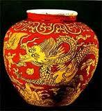 Vaso de porcelana Dinastia Ming.