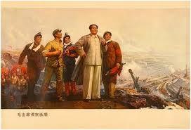 Poster Chinês - Mao Tsé Tung à frente.