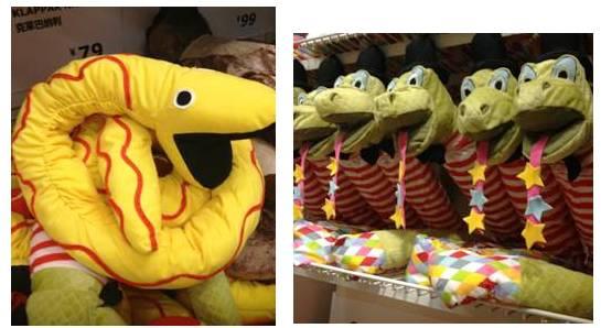Essas são do Ikea. A mais tradicional amarela e vermelha e a 'simpática' ! =]