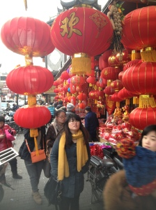 Lanternas sendo comercializadas no Yu Garden, antes do Ano Novo Chinês,