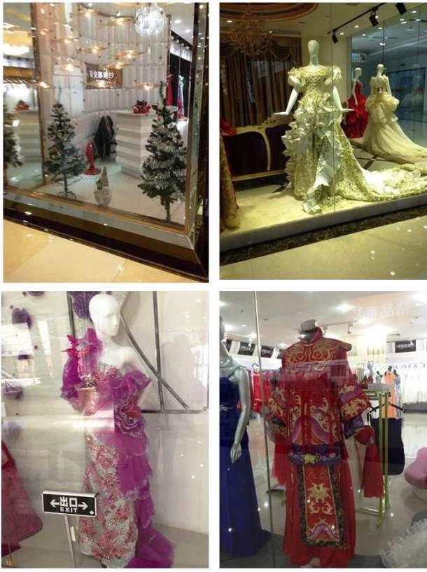 Decoração natalina na primeira foto é um mero detalhe... E abaixo um dos trajes tradicional chines para casamento.