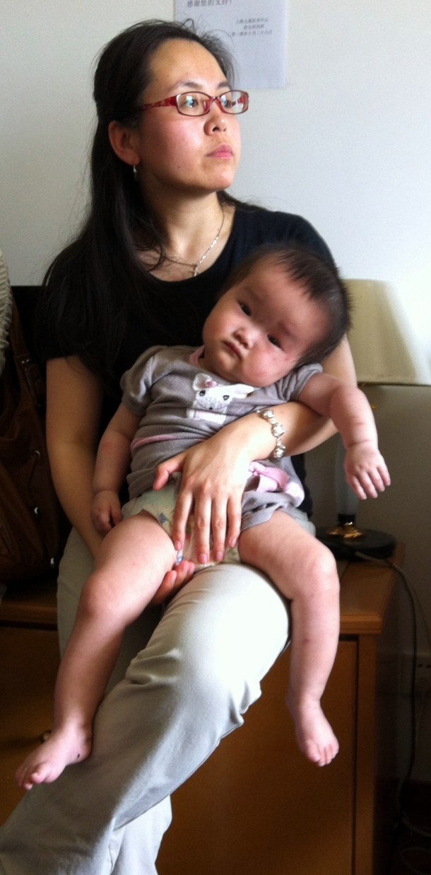 Lily com um dos nossos bebês.