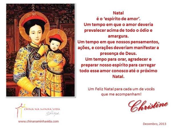 cartaonatalchinanaminhavida2013
