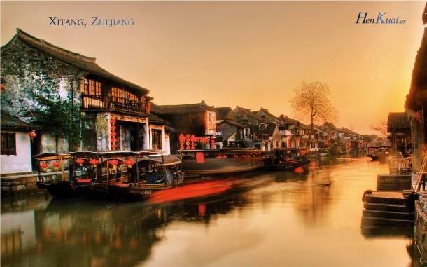 El antiguo poblado de Xitang, localizado en el distrito Jiashan, ciudad de Jiaxing, provincia de Zhejiang,