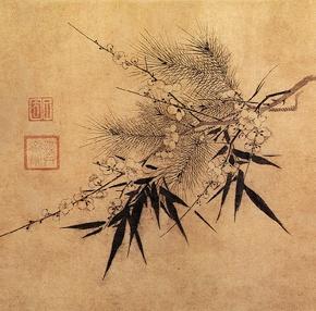 Folclore Chinês: Três amigos durante o tempofrio