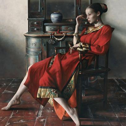 Lu Jianjun, Retrato de mulher chinesa.