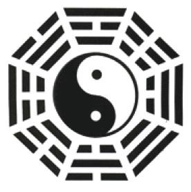 Bagua, primeira inspiração para os hexagramas do I Ching.