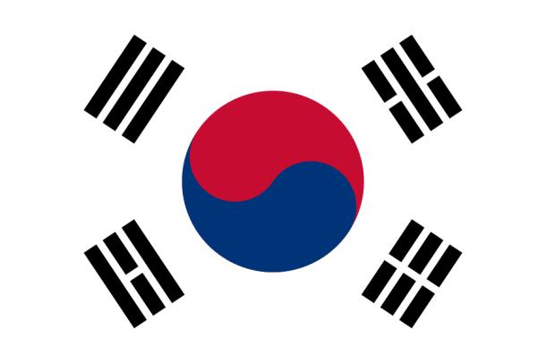 Bandeira da Corea do Sul, que usa os símbolos do Bagua.