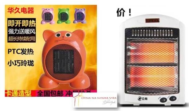 Aquecedores de todos os tipos e para todos os gostos... Foto do taobao.com