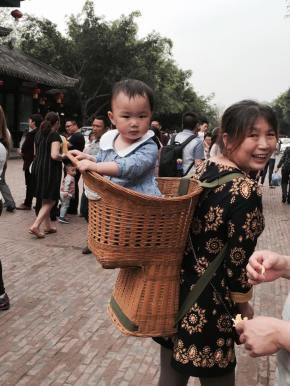 O uso do bambu naChina.