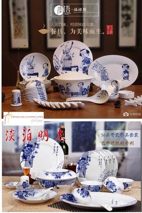 E esses são meu queridinhos: sem sair do azul e branco, mas com desenhos chineses mais contemporâneos.