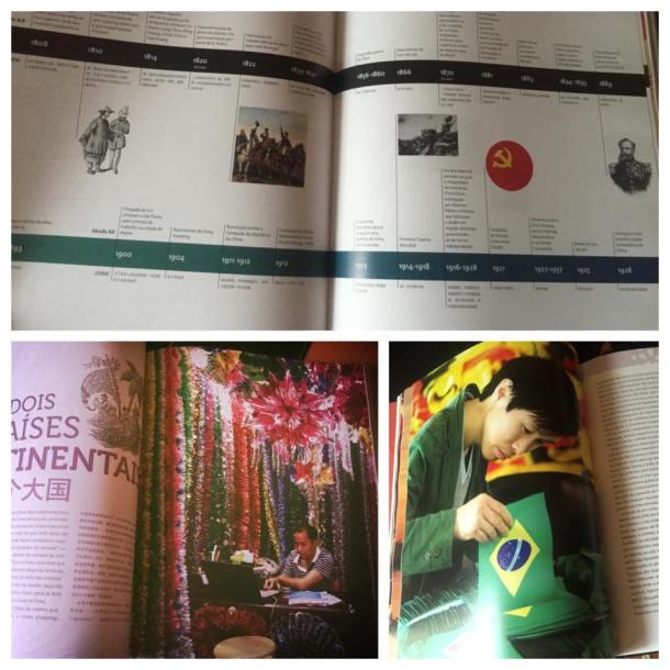 """Uma linha do tempo (que adoro...) e fotos lindas de se ver. Foto feita do livro """"China Made in Brasil"""""""