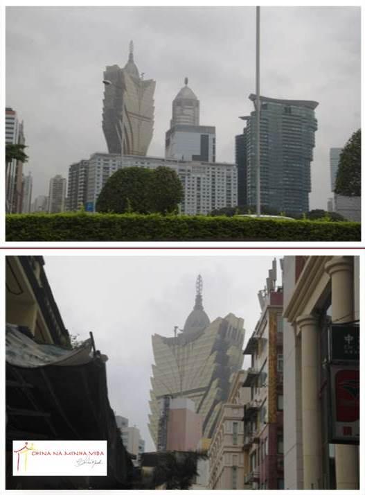 Mas o Lisboa, primeiro Casino de Macau, continua imponente. Parece que de onde se olha, ele está lá. Presente.