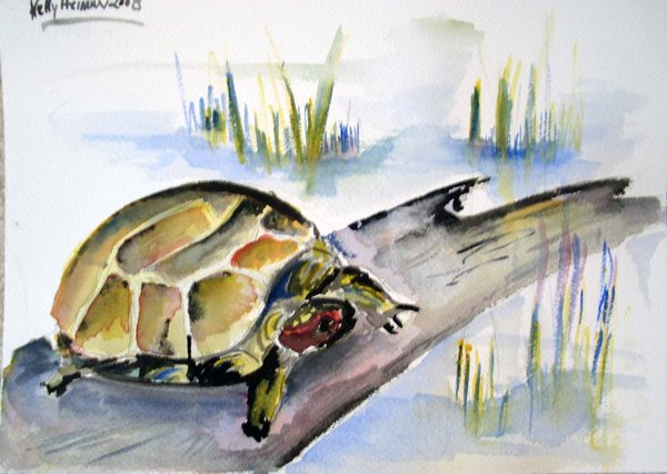 chinese_watercolor_turtle_by_dizzyflips