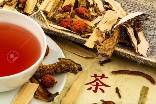 Ingredientes para chá, segundo a TMC.