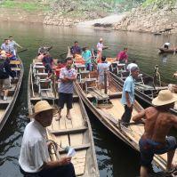 Os barcos que nos levaram a Shennong.