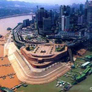 Chongqing e seus dois rios. Foto cedida pelo fotógrafo do Cruzeiro.