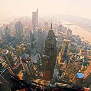 vista aérea de Chongqing.