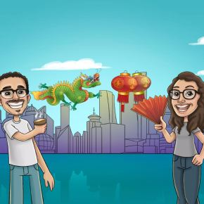 China na NOSSA vida – CAMI LI VO – dois amigos noYouTube